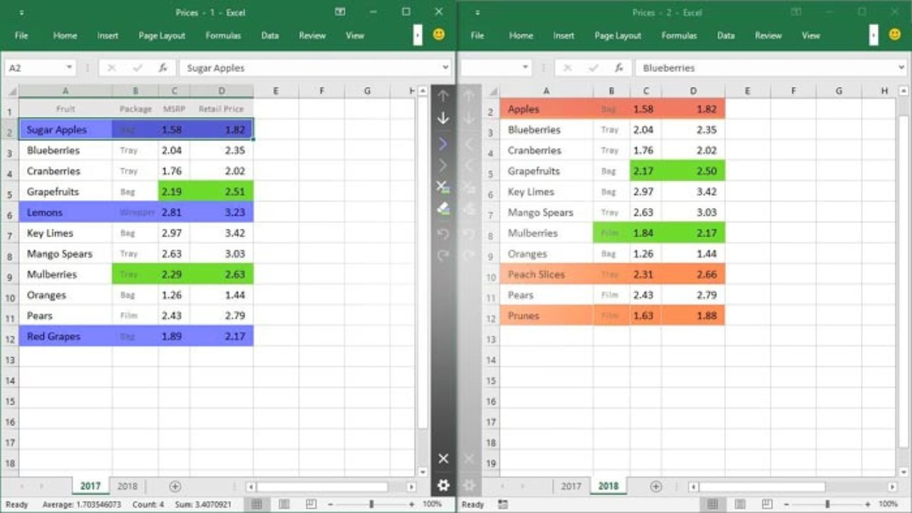How to Comparing Two Excel spreadsheet ( CSV) Documents