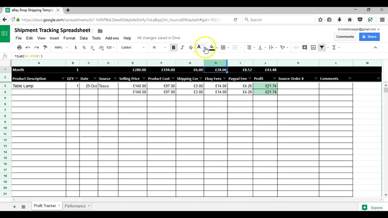 Shipment Tracking Spreadsheet Template