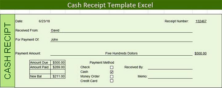 Download 7 Cash Receipt Template In Excel Word