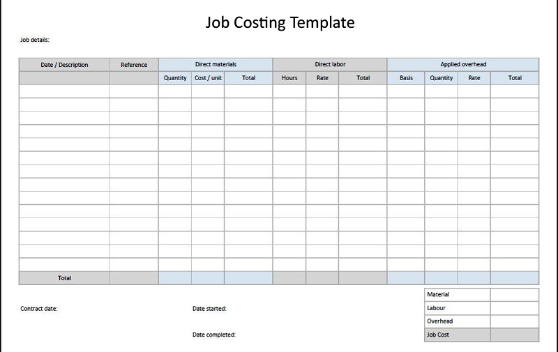Job-Costing-Template