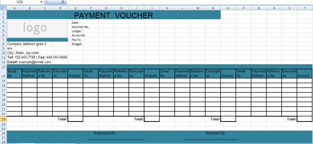 Excel-Payment-Voucher-Template