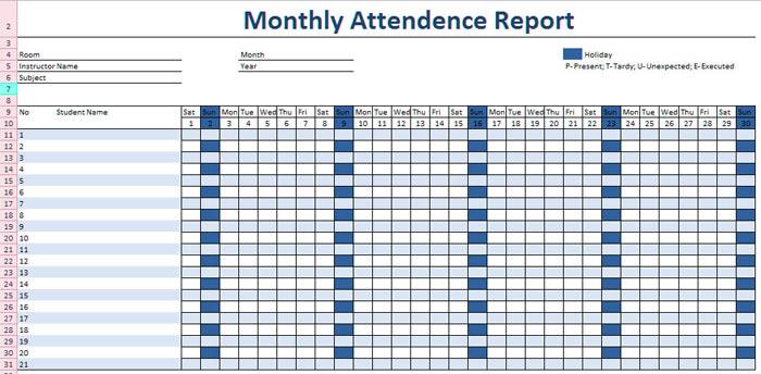 employee-attendance-template